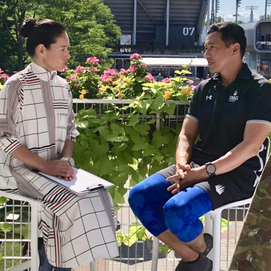 Amanda Anisimova and Yutaka Nakamura